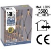 Koppelbare Netverlichting - 160 LED - 2m - warm wit